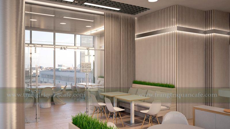 thiết kế cafe nhỏ xinh trên tầng thượng chung cư
