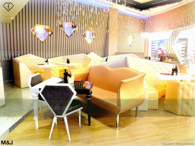 thiết kế nội thất cafe: Cafe kim cương