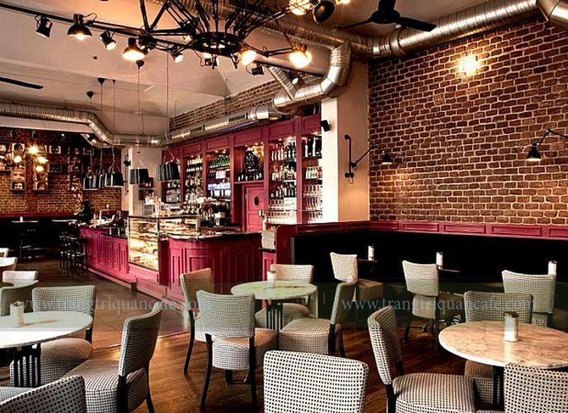 thiết kế nội thất quán cafe phong cách châu Âu