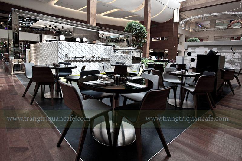 nội thất quán cafe đẹp trong trung tâm thương mại