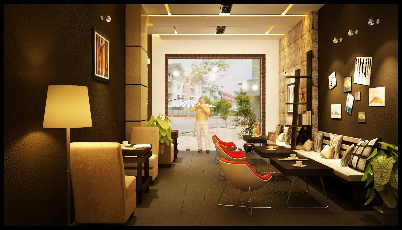 design quán cafe nhỏ với màu sắc