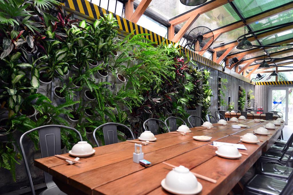 thiết kế quán ăn sân vườn đẹp 1