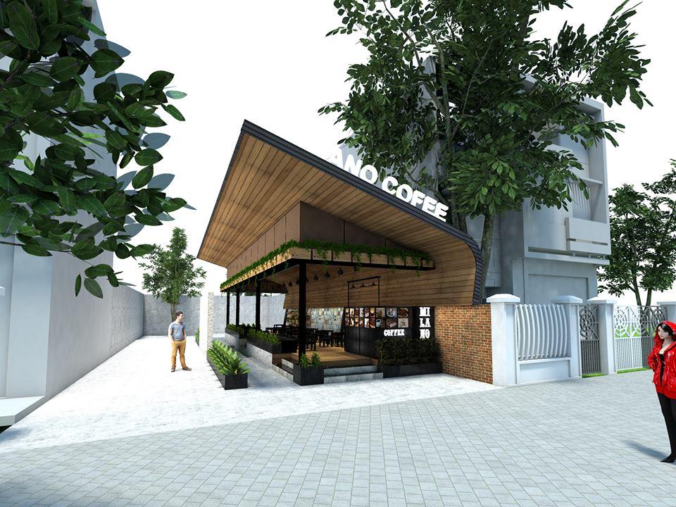 thiết kế quán cà phê milano