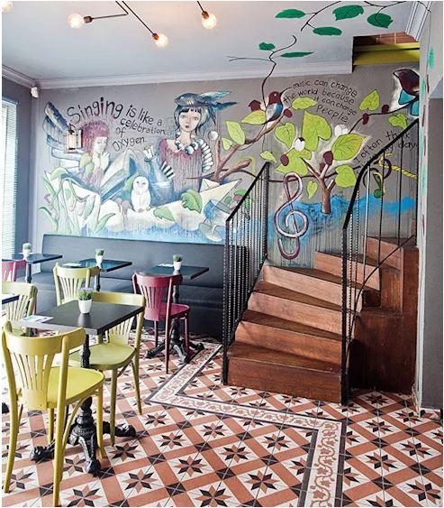 thiết kế quán cafe hiện đại 2018