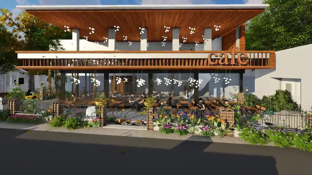 thiết kế quán cafe sân vườn đẹp độc đáo