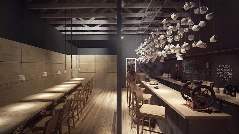 Thiết kế quán cafe phong cách take away