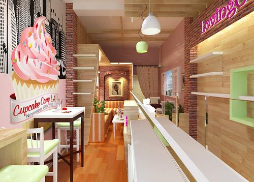 thiết kế quán kem nhỏ