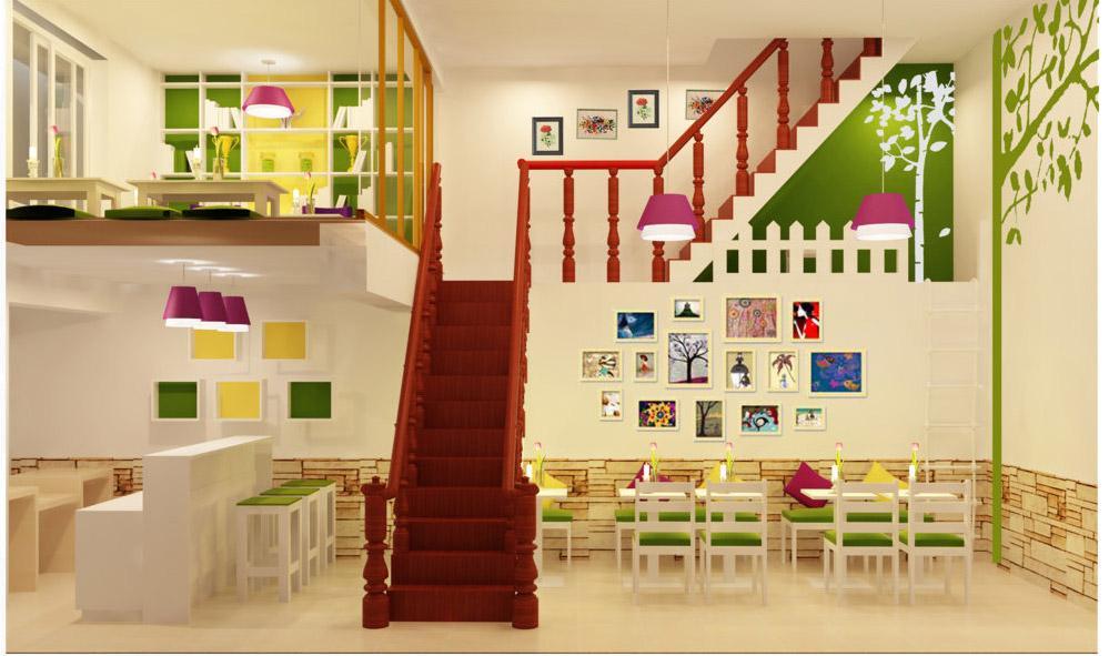 thiết kế quán kem nhỏ đẹp tại Hà Nội