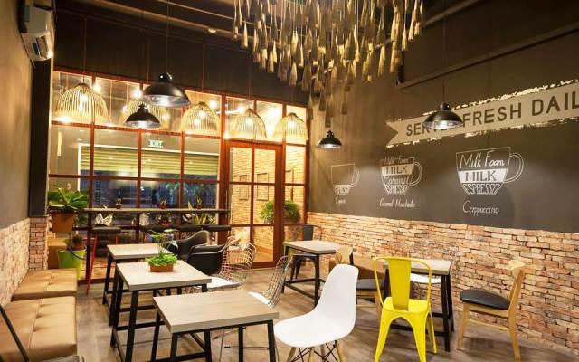 cách bố trí không gian quán cafe đẹp