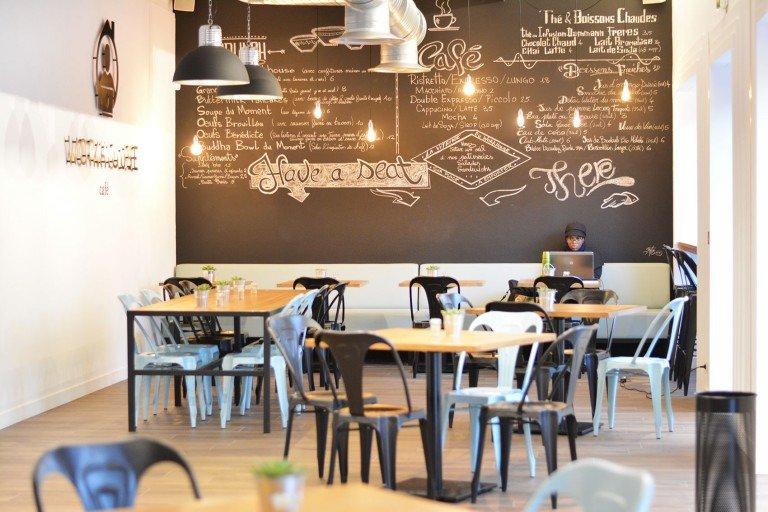 Thiết kế quán cafe mặt tiền nhỏ 5m